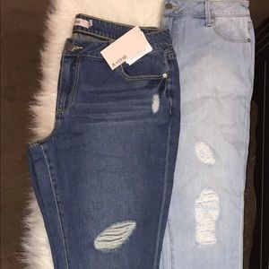 2-Pair Deal-Straight Leg Distressed Jeans